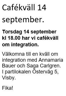 Cafékväll 14 september