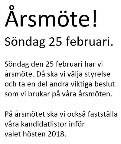 Årsmöte den 25 februari